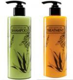 Aroma Herb sada na vlasy - regenerační šampón a kondicionér s aloe vera pro lesklé vlasy a plný objem 2x430ml