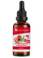 Stevia nekalorické roslinné sladidlo - kapky 50ml jahoda