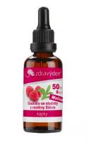 Stevia nekalorické roslinné sladidlo - kapky 50ml malina